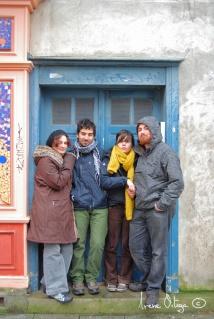 Rosa, Diego, Itxaso y Miguel